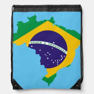 Brazilian country flag drawstring bag