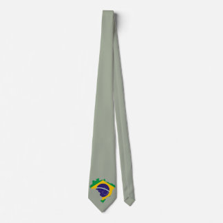 Brazilian country flag tie