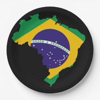 Brazilian country paper plate