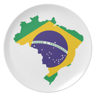 Brazilian country plate
