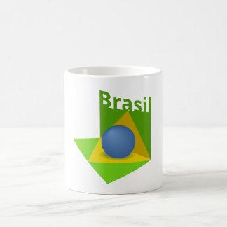 brazilian flag 3d basic white mug