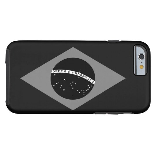 Brazilian Flag Black And White Tough iPhone 6