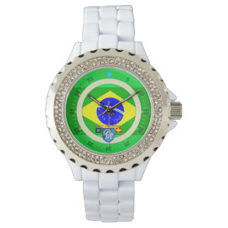 Brazilian Flag Brazil Port Richman Nautical Watch