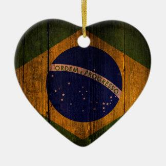 Brazilian flag. christmas ornament