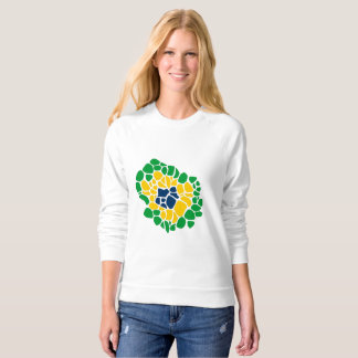 Brazilian Flag Flower Power Women's Sweatshirt