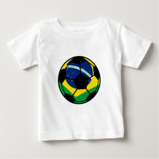 Brazilian Flag Football Baby T-Shirt