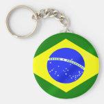 Brazilian flag keyring for Brazilians worldwide Key Chain