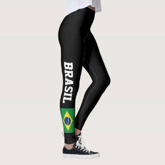 Brazilian flag leggings for sport fitness gym