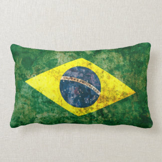 Brazilian Flag Lumbar Pillow