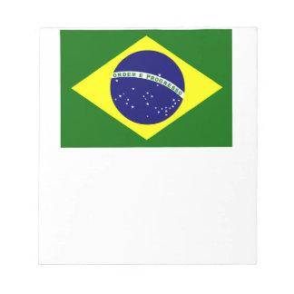 Brazilian Flag Notepad