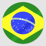 Brazilian flag of Brazil gifts and tees Round Stickers