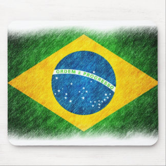 Brazilian_Flag_Pencil_Painting Mouse Mat