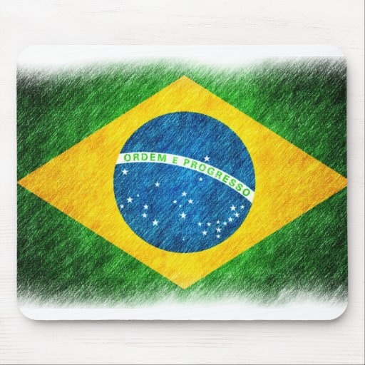 Brazilian_Flag_Pencil_Painting Mouse Pad