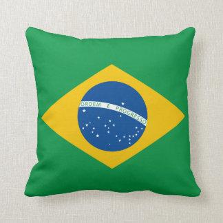 Brazilian Flag Pillow, Brasil, Green Yellow Blue Cushion