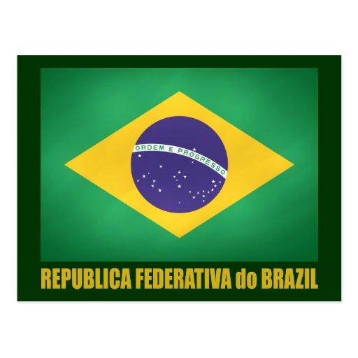 Brazilian Flag Post Cards