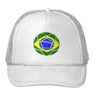 Brazilian flag Samba futebol soccer ball gifts Mesh Hat
