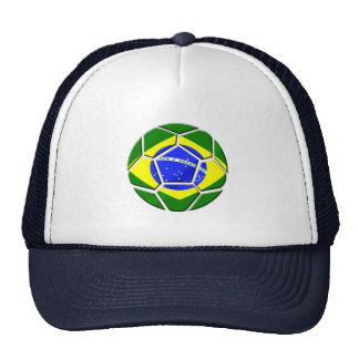 Brazilian flag Samba futebol soccer ball gifts Mesh Hats