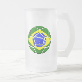 Brazilian flag Samba futebol soccer ball gifts Mugs