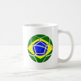 Brazilian flag Samba futebol soccer ball gifts Coffee Mugs