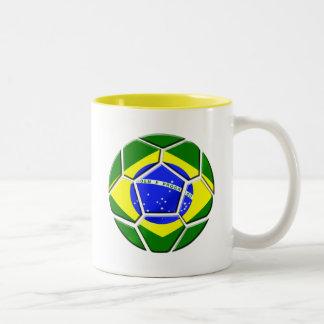 Brazilian flag Samba futebol soccer ball gifts Mug