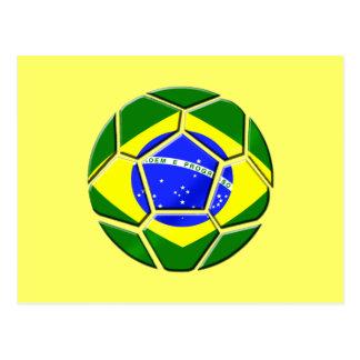 Brazilian flag Samba futebol soccer ball gifts Postcard