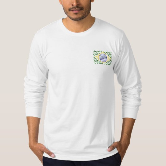 Brazilian flag soccer players long sleeve shirt