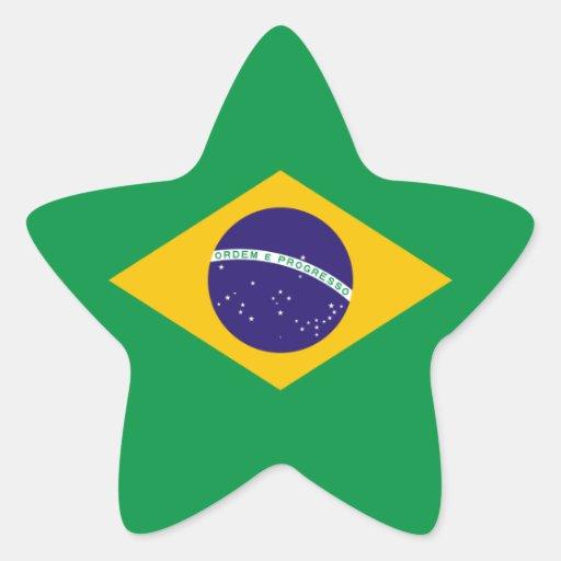 Brazilian flag stickers
