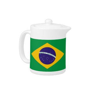 Brazilian Flag Teapot