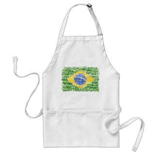 Brazilian Flag - Textual Brasil Standard Apron