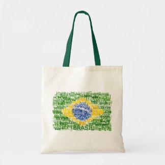 Brazilian Flag - Textual Brasil Budget Tote Bag