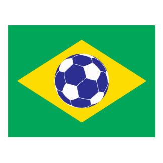 Brazilian Football Flag Postcard