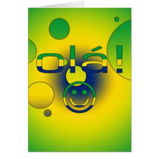 Brazilian Gifts : Hello / Ola + Smiley Face Card