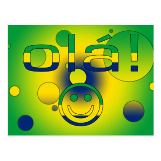 Brazilian Gifts : Hello / Ola + Smiley Face Post Cards