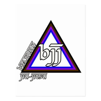 Brazilian Jiu Jitsu BJJ Triangle of Progress Postcard