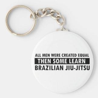 Brazilian Jiu-Jitsu designs Basic Round Button Key Ring