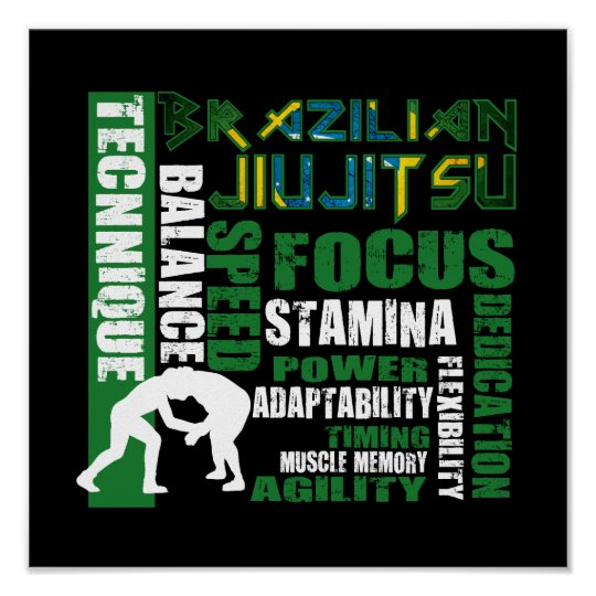 Brazilian Jiu Jitsu Elements BJJ Poster