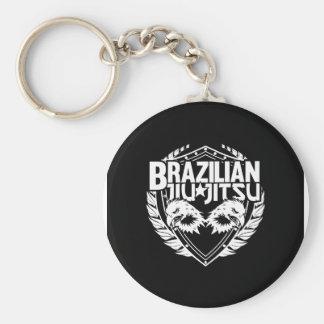Brazilian Jiu Jitsu Emblem Basic Round Button Key Ring
