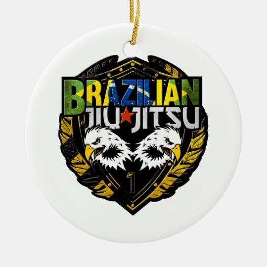 Brazilian Jiu Jitsu Emblem Christmas Ornament