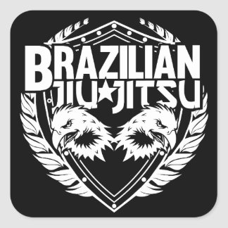 Brazilian Jiu Jitsu Emblem Square Sticker