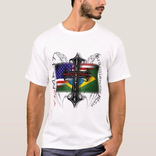 Brazilian Jiu Jitsu Evolution + Revolution Cross T-Shirt