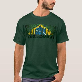 """Brazilian Jiu Jitsu Junkie - """"Eat Sleep Grapple"""" T T-Shirt"""