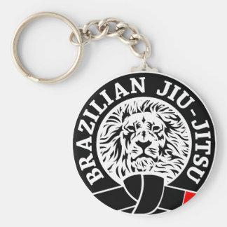 Brazilian Jiu-Jitsu (Key Chain) Basic Round Button Key Ring