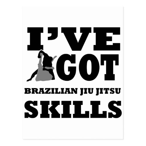 Brazilian Jiu Jitsu Martial Arts designs Post Cards