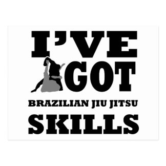 Brazilian Jiu Jitsu Martial Arts designs Postcard