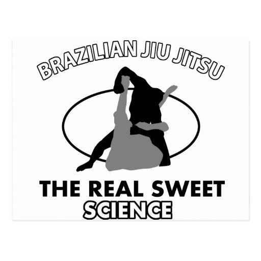 Brazilian Jiu Jitsu Martial arts Post Cards