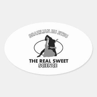 Brazilian Jiu Jitsu Martial arts Oval Stickers