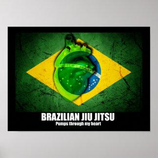 Brazilian Jiu Jitsu Pumps Through My Heart Poster