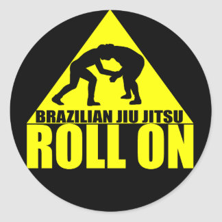 "Brazilian Jiu JItsu ""Roll On"" Sticker"