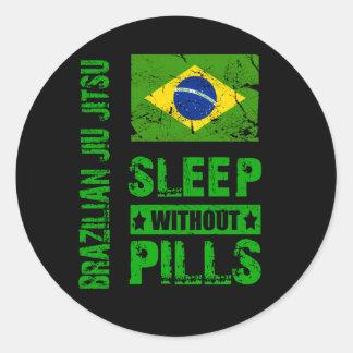 Brazilian Jiu Jitsu Sleep Without Pills Sticker