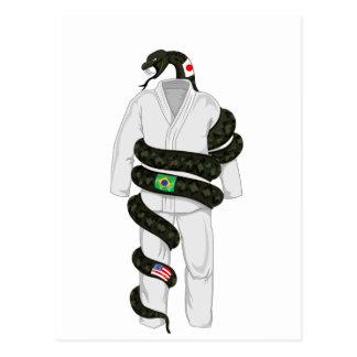 Brazilian Jiu Jitsu Snake Postcard
